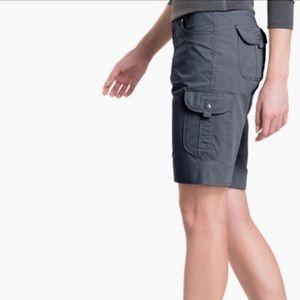 KUHL Cargo Shorts Size 14 Charcoal Gray